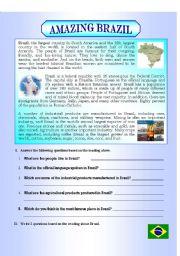 English Worksheet: AMAZING BRAZIL