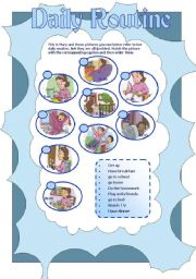 English Worksheets: Daily Routine