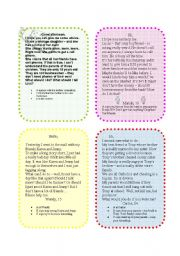 English Worksheet: Asking for Advice  (8 cards)