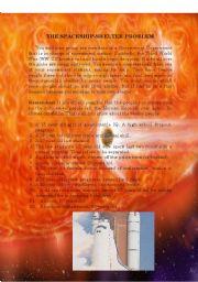 English worksheet: The Spaceship-Shelter Problem
