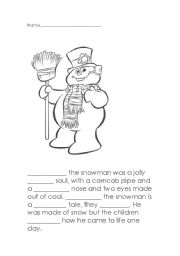 English Worksheets: Frosty Word Choice