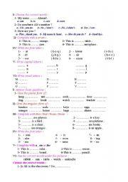 English Worksheets: Exercise