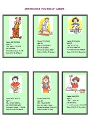English Worksheets: Introducing people and yourself