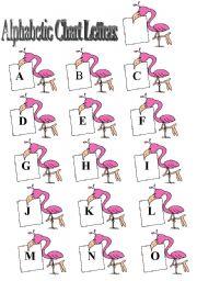 English Worksheets: Bird Alphabetic Letters