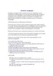 English Worksheets: Narration