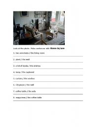 English worksheet: Picture of a room