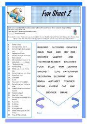 English Worksheet: Fun Sheet 2