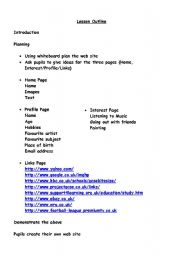 English Worksheets: Create webpages using MS Publisher