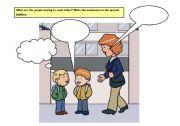 English worksheet: Writing about school
