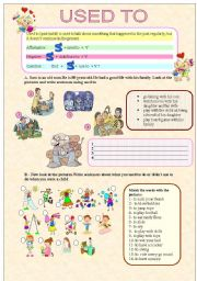 English Worksheets: Used to (5 pages)