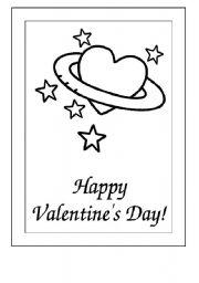 English Worksheet: Postcard valentines day