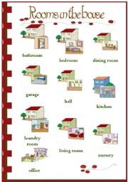 English Worksheets: Rooms in the house