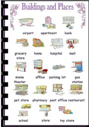English Worksheet: Buildings and places