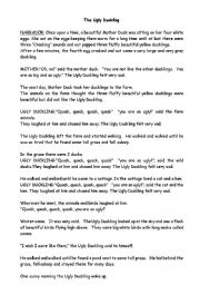 English Worksheets: The ugly duckly