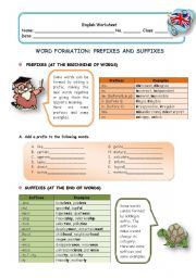 English Worksheets: Word Formation