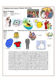 English Worksheet: Movie Activity: Mamma Mia! (part 1 of 2)