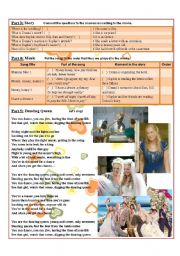 English Worksheet: Movie Activity: Mamma Mia! (part 2 of 2)
