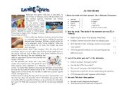 English Worksheet: reading:loving sports