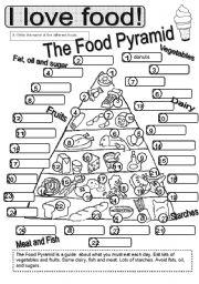 English Worksheets: Basic Foods #3