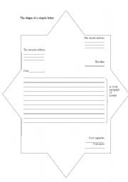 English Worksheets: a shpe of letter