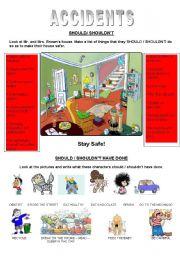 English Worksheet: SHOULD / SHOULD HAVE DONE