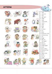 English worksheet: Actions