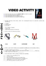 English Worksheet: Vertical Limit - Video Activity