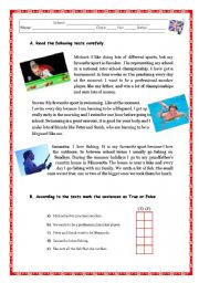 English Worksheet: SPORTS / LEISURE ACTIVITIES