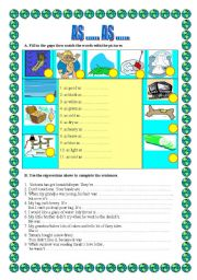 English Worksheets: AS ....AS ....   -the most frequent expressions