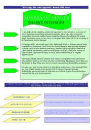 English Worksheets: For and against text