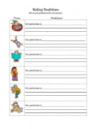 Printables Making Predictions Worksheets english teaching worksheets making predictions predictions