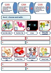 English Worksheets: ABILITIES - CAN (MIXED EXERCISES)