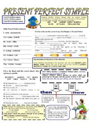 English Worksheet: PRESENT PERFECT SIMPLE --- exercises