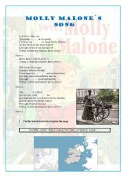 English Worksheet: MOLLY MALONE�S SONG