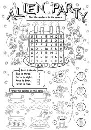 English Worksheet: Alien Party (age)