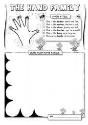 English Worksheets: The Hand Family (1)