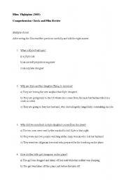 English Worksheets: comprehension check film flightplan