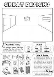 English Worksheet: Great designs (furniture)