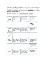 English Worksheet: Past Modals Game