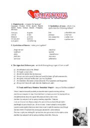 English Worksheet: Valentine´s Fun Worksheet