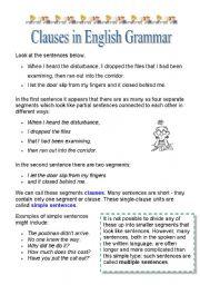 If clauses english grammar formatting