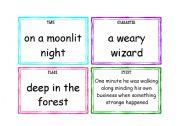 English Worksheet: story telling flashcards
