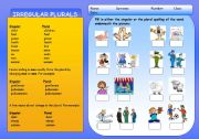 English Worksheets: IRREGULAR PLURALS