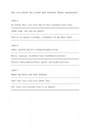 English Worksheets: Break the code