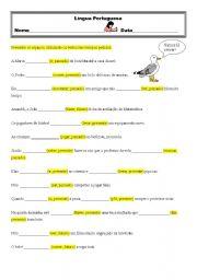 English Worksheets: Verbos 3�ano