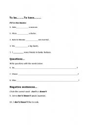 English Worksheet: Using