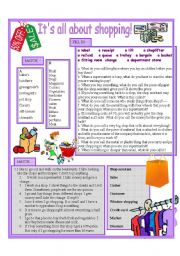 English Worksheet: Shopping vocabulary