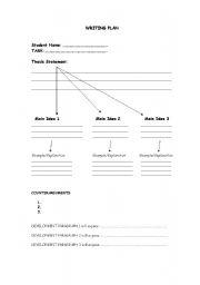 English Worksheets: WRITING PLAN