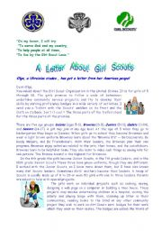 English Worksheets: Girl Scouts
