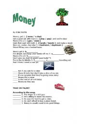 English Worksheet: Money - Pink Floyd Song